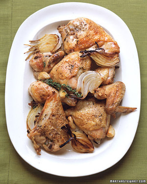 Chicken with Onions and Garlic