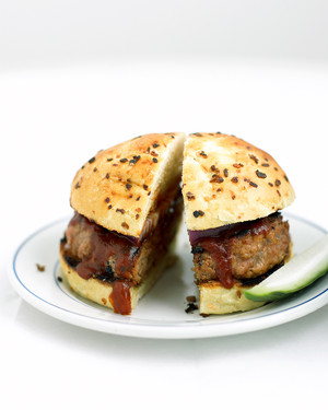 Barbecue Pork Burgers