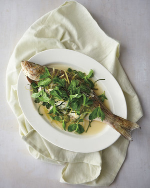 Whole Fish with Mint