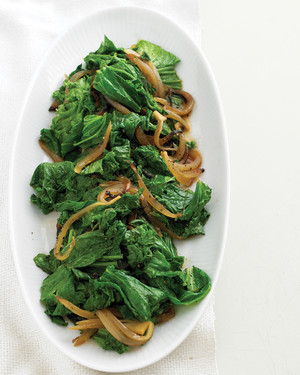 Mustard Greens and Sweet-Onion Saute
