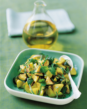 Sauteed Zucchini and Yellow Squash with Mint