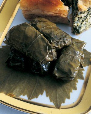 Dolmades Stuffed Grape Leaves Recipe Martha Stewart