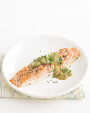 Salmon with Mustard-Dill Sauce