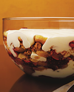 Sherry Trifle with Brandy Custard