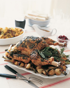 Roasted Turkey with Garlic-herb Butter