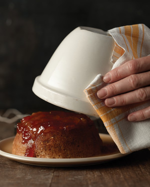 Steamed Ginger Pudding with Apricot Jam