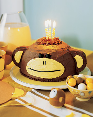 Outstanding Monkey Cake Martha Stewart Personalised Birthday Cards Paralily Jamesorg