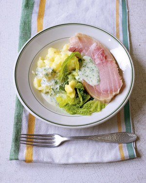 Traditional Irish Bacon, Cabbage, and Parsley Sauce