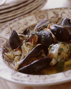 Mussels and Baby Artichokes Barigoule