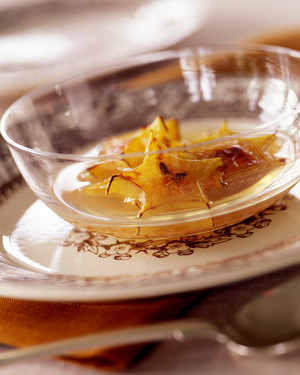 Broiled Star Fruit in Gingered Broth