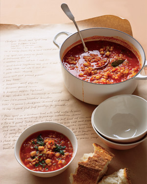 Chickpea, Tomato, and Spelt Soup