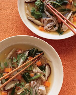 Lemongrass Chicken Soba Noodle Soup Recipe Martha Stewart