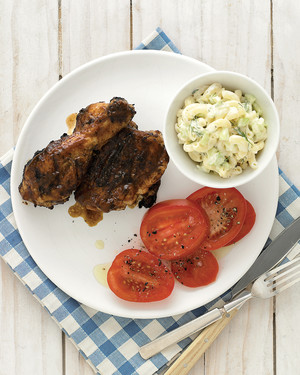 Southern Grilled Chicken with Macaroni Salad