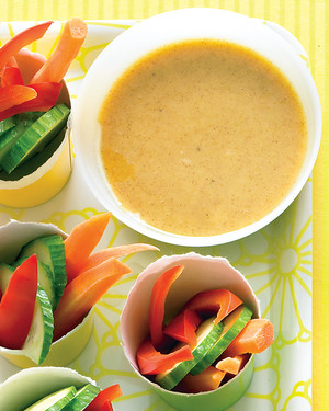 Veggies with Honey-Mustard Dip