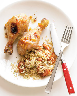 Orange-Glazed Chicken with Carrots and Bulgur