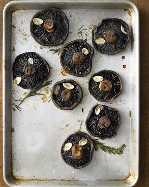 Roasted Portobellos with Rosemary