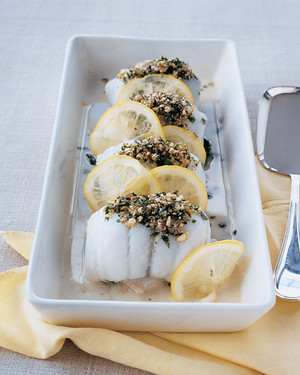 Sole Rolls with Spinach and Lemon Slices