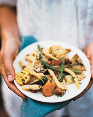 Pasta with Summer Squashes, Herbs, and Honey