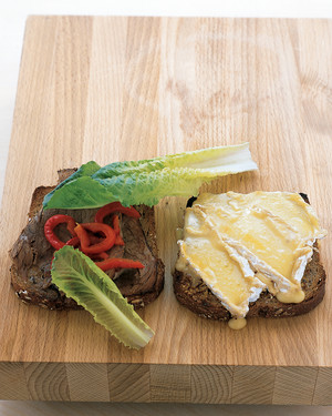 Warm Beef and Brie Sandwich