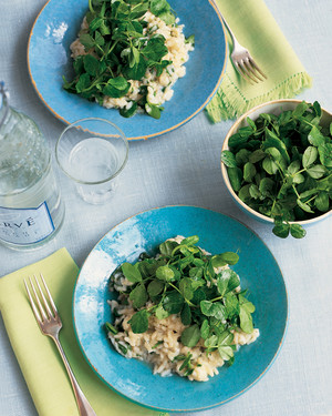 Risotto with Pea Shoots