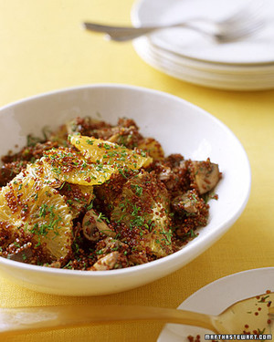 Red Quinoa and Mushroom Pilaf with Dill
