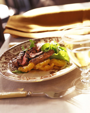 Seared Beef and Oranges with Arugula