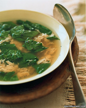 Spinach Egg Broth