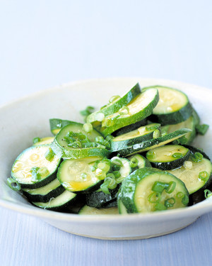 Steamed Zucchini With Scallions