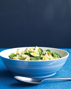 Corn-and-Zucchini Saute with Basil