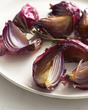 Roasted Onions and Rosemary