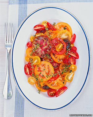 Sliced Tomatoes with Lemon Thyme