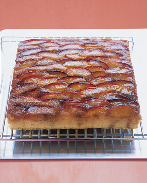 Easy Plum Upside-Down Cake