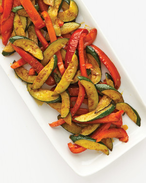 Zucchini, Bell Pepper, and Curry Paste