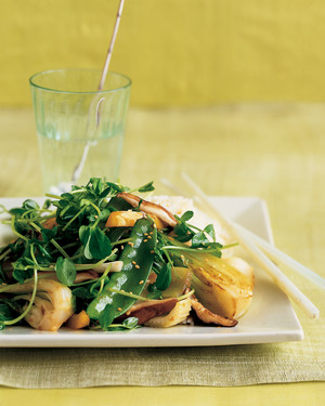 Pea-Shoot and Vegetable Stir-Fry