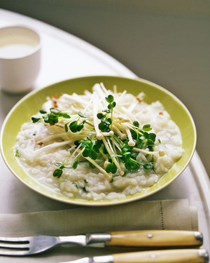 Japanese Risotto with Mushrooms and Scallions