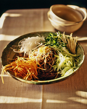 Dashi with Soba Noodles