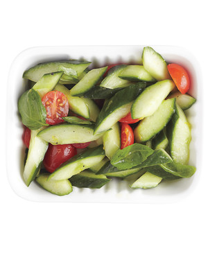 Cucumbers with Lemon and Basil