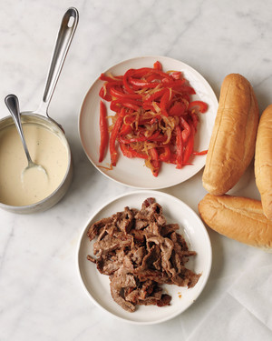 Cheesesteaks with Peppers