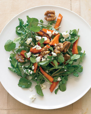 Watercress Salad with Roasted Sweet Potatoes