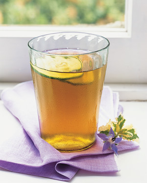 Iced Green Tea With Cucumber