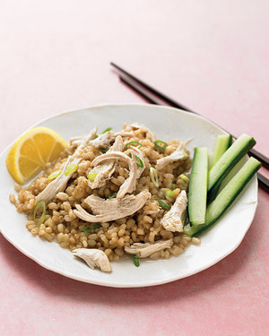 Green Tea Poached Chicken with Green Tea Rice