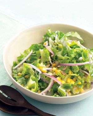 Romaine Salad with Corn and Pepitas