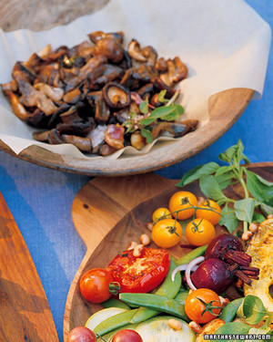 Coal-Roasted Mushrooms with Mint