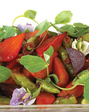 Baby Beet Salad with Sugar Snap Peas