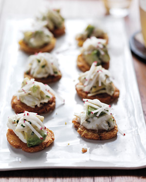 Crab Salad with Avocado and Tostones