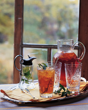 Mint Simple Syrup for Sweet Tea