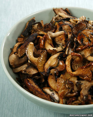 Wild Mushrooms in Parchment with Wild Mint