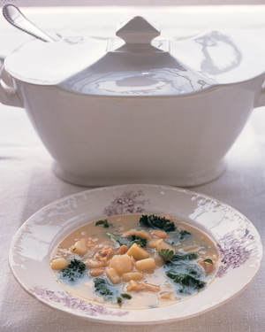 Chicken and Kale Soup with White Beans
