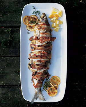 Grilled Bacon-Wrapped Whitefish