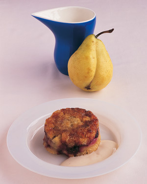 Pear-Blueberry Betty